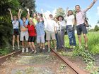 HAPPIER DAYS: Supporters of the Northern Rivers rail trail after it was announced last year that the proposal was in line for funding under the Regional Tourism Infrastructure Fund.