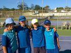 Sunshine tennis aces clean up