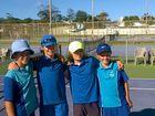 Tennis boys slam it for a win