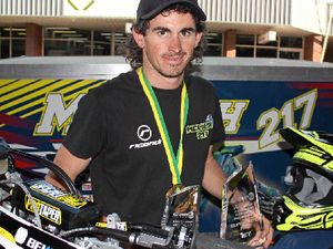 LOCAL STAR: Andy McLiesh is off to the FIM Asia SuperMoto Championships but he needs your help.