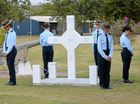 Two local men killed in the Vietnam War will be forever remembered with the unveiling of a Long Tan Cross replica in Gatton's Littleton Park.