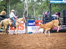 Luke Holmes in action at the Glenden Rodeo.