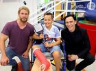 Marvel-ous: Thor actors visit sick kids at Lady Cilento
