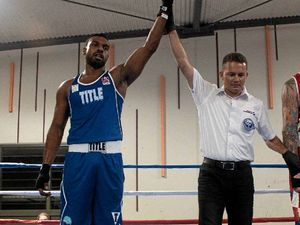 HAND RAISED: Uriel Pearson will be featuring in the main senior bout at Whitsunday PCYC Fight Night.