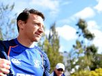 Brent Harvey attends training at Arden St today.