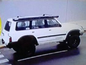 Police are searching for a white Nissan Patrol seen leaving the area at the time of the incident.