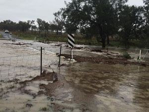 Minor flooding today at Pikedale on the southern Darling Downs.