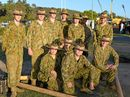 The Australian Army Cadets 139 ACU taking a breather from showing demonstrations at the Faith Fair.