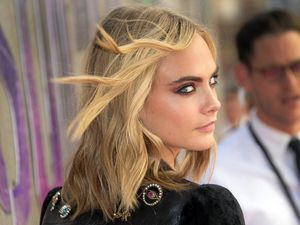 Model and actress Cara Delevingne at the European Premiere of Suicide Squad.