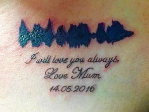 Woman got audio file of mum's voice tattooed on her body