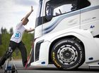 Volvo Trucks' The Iron Knight has just cracked two world speed records.