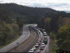 Heavy traffic congestion on the Toowoomba Range.