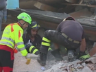 Rescuers search for survivors in Amatrice, Italy.