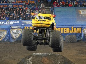 BIG AND FLYING: El Toro Loco shows off to the crowd.