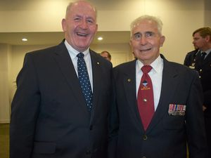 VICE-REGAL VISIT: Governor General Sir Peter Cosgrove and Bevan Stansbie MBE.