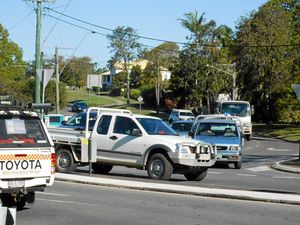 HORROR: This is possibly Noosa's worst intersection for choking traffic - the intersection of Elm and Myall streets.