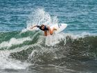 Nicholl competing at the INS ISA World Surfing Games in Costa Rica.