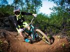 Jake Keleher on one of the First Turkey Mountain Bike Trails. Photo Allan Reinikka / The Morning Bulletin
