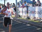 Darren Wadsworth and Paul Arvidson didn't let injury stand in their way of doing their best in the Colorbond Airlie Beach Triathlon this morning.
