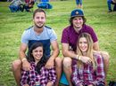 GOOD TIMES: Brenden Peters, Jillian Ayius, Aaron McGowan and Millie Brammer at the Glenden Rodeo.