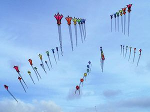 COLOURFUL: Kites will fly high at the Sarina Coconut Festival.