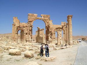 HISTORICAL EVIDENCE: Palmyra monumental arch.