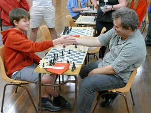 Dad turns tables on son with a rare win at chess