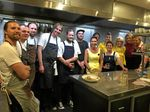 CREATIVE KITCHEN: Helpers providing the good food at Halcyon House's community dinner.