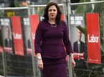 Queensland Premier Annastasia Palaszczuk arrives at the Australian Labor Party 2016 federal election campaign launch, at the Joan Sutherland performing arts centre, in Penrith, Western Sydney, Sunday, June 19, 2016.
