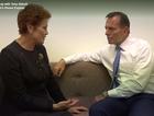 Tony Abbott and Pauline Hanson meet in Parliament House