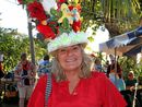 Marlene Leith with her parrot head on for SICYC on Saturday night. Photo Sharon Smallwood / Whitsunday Times