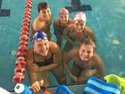TRAINING HARD: Clancy Biggar, Natise Smith, Jennifer Nothdurft, Claudia Nothdurft and Lachlan Hemmings.