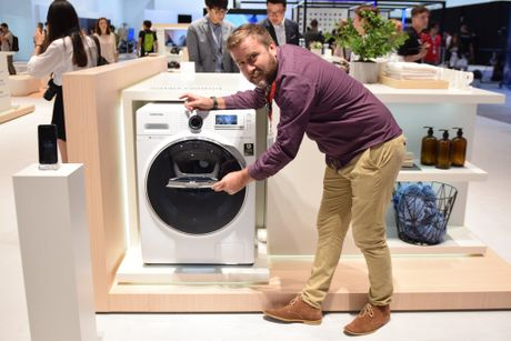 Samsung launches it's new tech advances at IFA in Berlin including the Australian inspired AddWash front loading washing machine.
