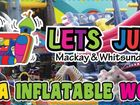 Lets Jump MEGA Inflatable World $10 per hour  per child 12 years & Under Food & Drinks available for purchase
