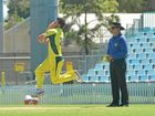Australia's Dan Worrall fires a ball down the wicket during the A series final, won by India A.