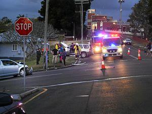 Two car collision on Calton Hill