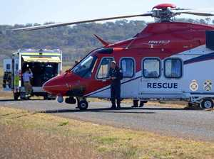 Man airlifted after workplace accident at Forest Hill