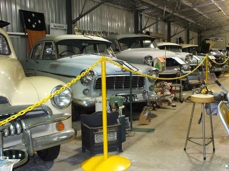 Some of the classic cars owned by Queensland Auto Museum going to auction in two weeks.