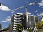 Construction of Breeze Mooloolba by Aria property group. Corner of Alexandra Parade and and Meta Street, Mooloolaba.