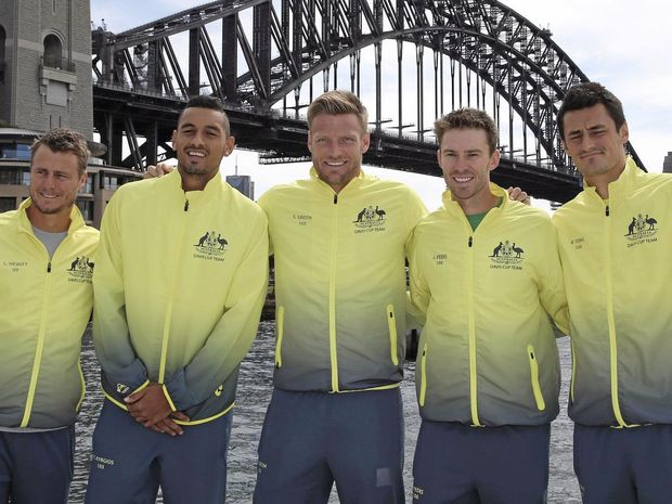Nick Kyrgios gets Australia off to winning start in Davis Cup