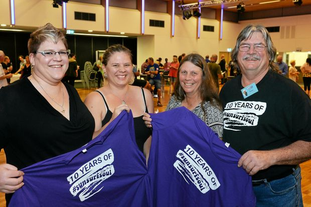 Peter Bell and his family Alisha, Cassandra and wife Carol have volunteered ay the Caloundra Music Festival since it first started 10 years ago.