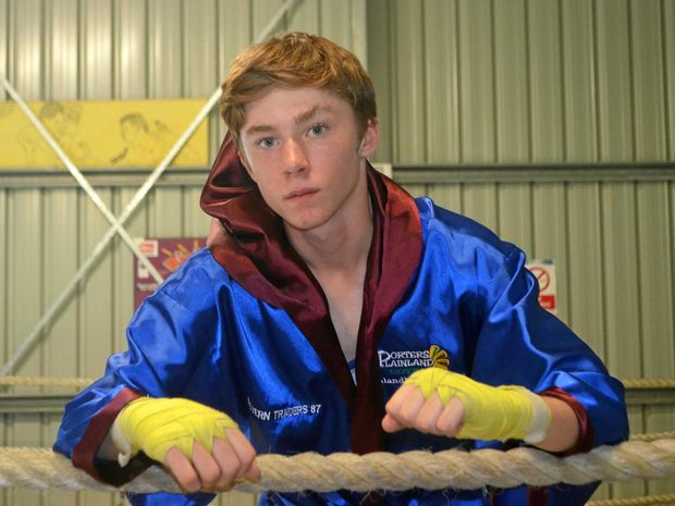 GOLDEN GLOVES: Rebels Boxing Club fighter Jesse Jenner has a big future in the ring ahead of him.