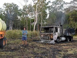 """Farmer's """"best truck"""" swallowed by grass fire"""