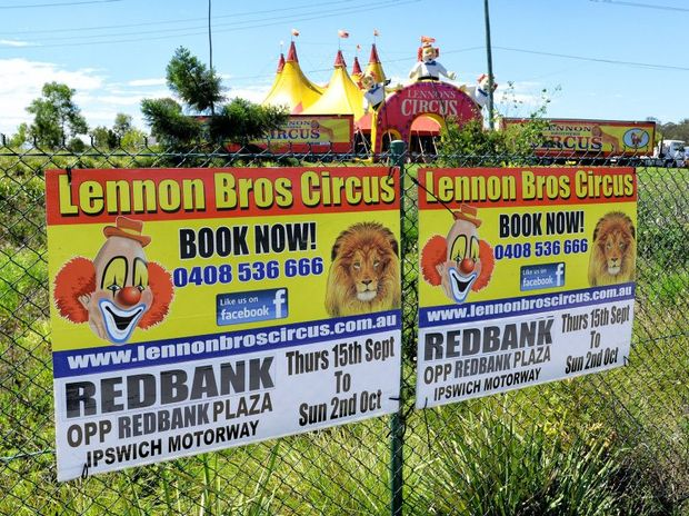 The Lennon Brothers Circus has erected their tents at Redbank.