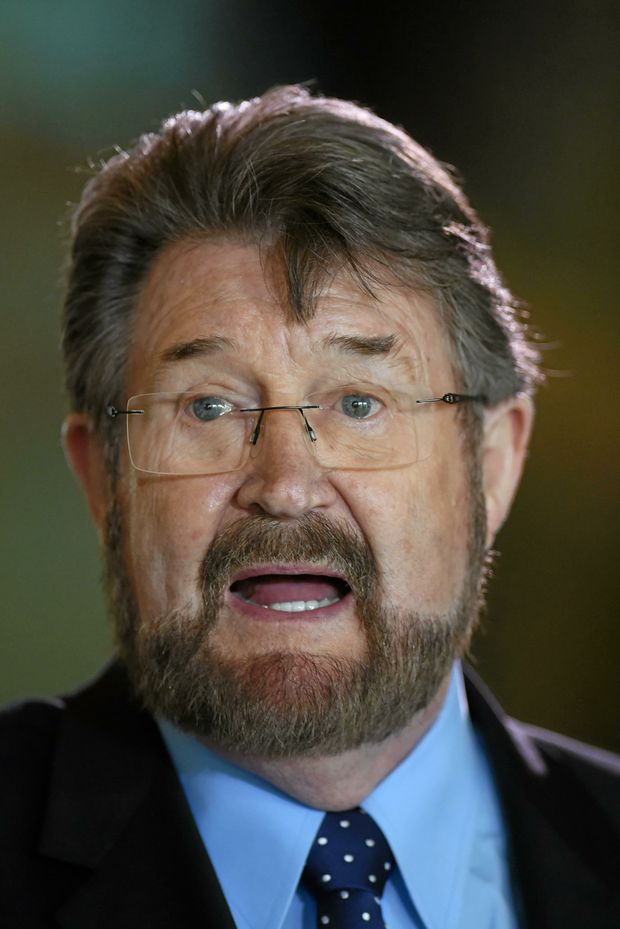 Derryn Hinch's Justice Party Senator Derryn Hinch speaks to the media during a press conference at Parliament House in Canberra, Wednesday, Sept 14, 2016. (AAP Image/Lukas Coch) NO ARCHIVING