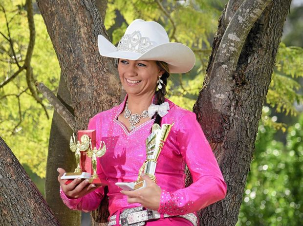 PROUD: Rodeo Queen entrant Bianca Mason was voted people's favourite for the Australian Rodeo Queen quest.