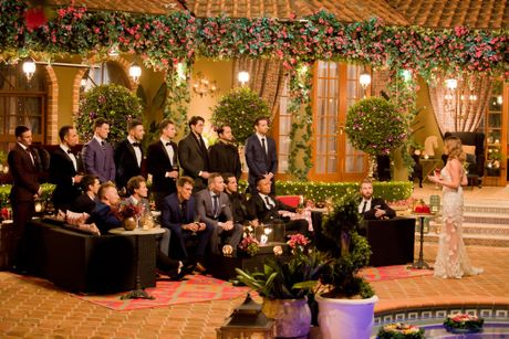 A scene from the first episode of The Bachelorette. Supplied by Channel 10.