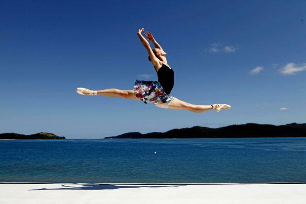 DANCE: Lana Jones from the Australian Ballet performing at Pas de Deux in Paradise.