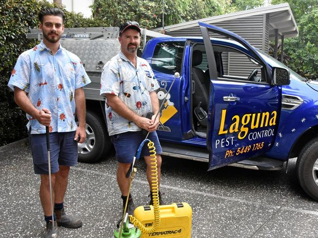 WINNING: Geordie McGrath (left) and Jay Turner of Laguna Pest Control.