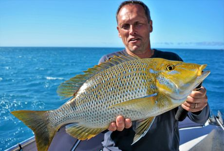 ROYAL BEAUTY: Frank Haberman with a nice spangled emperor caught on a charter with Reel Addiction.